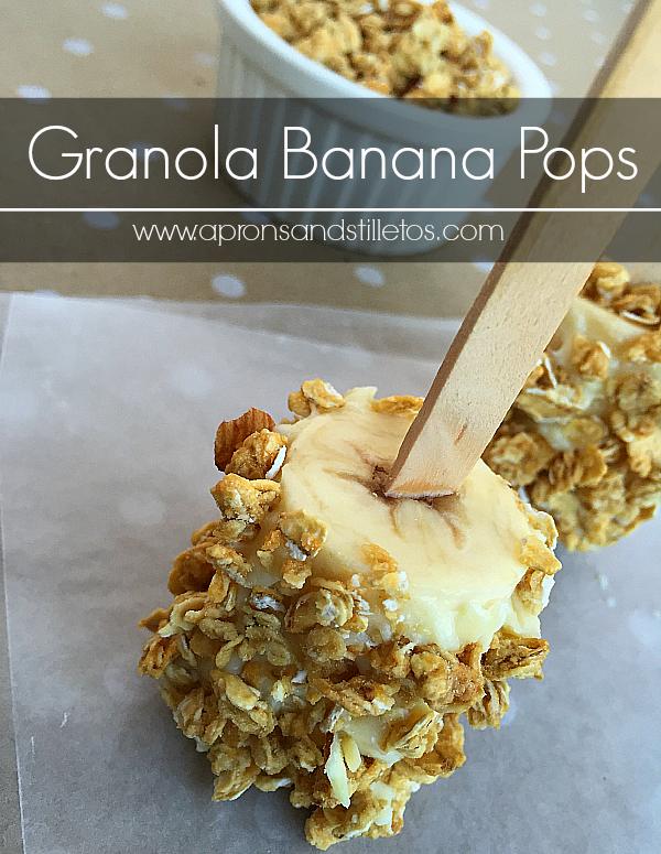 Granola Banana Pops
