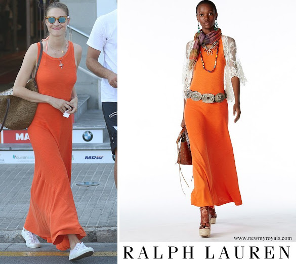 Beatrice Borromeo wore Polo Ralph Lauren Maxi Dress in Orange