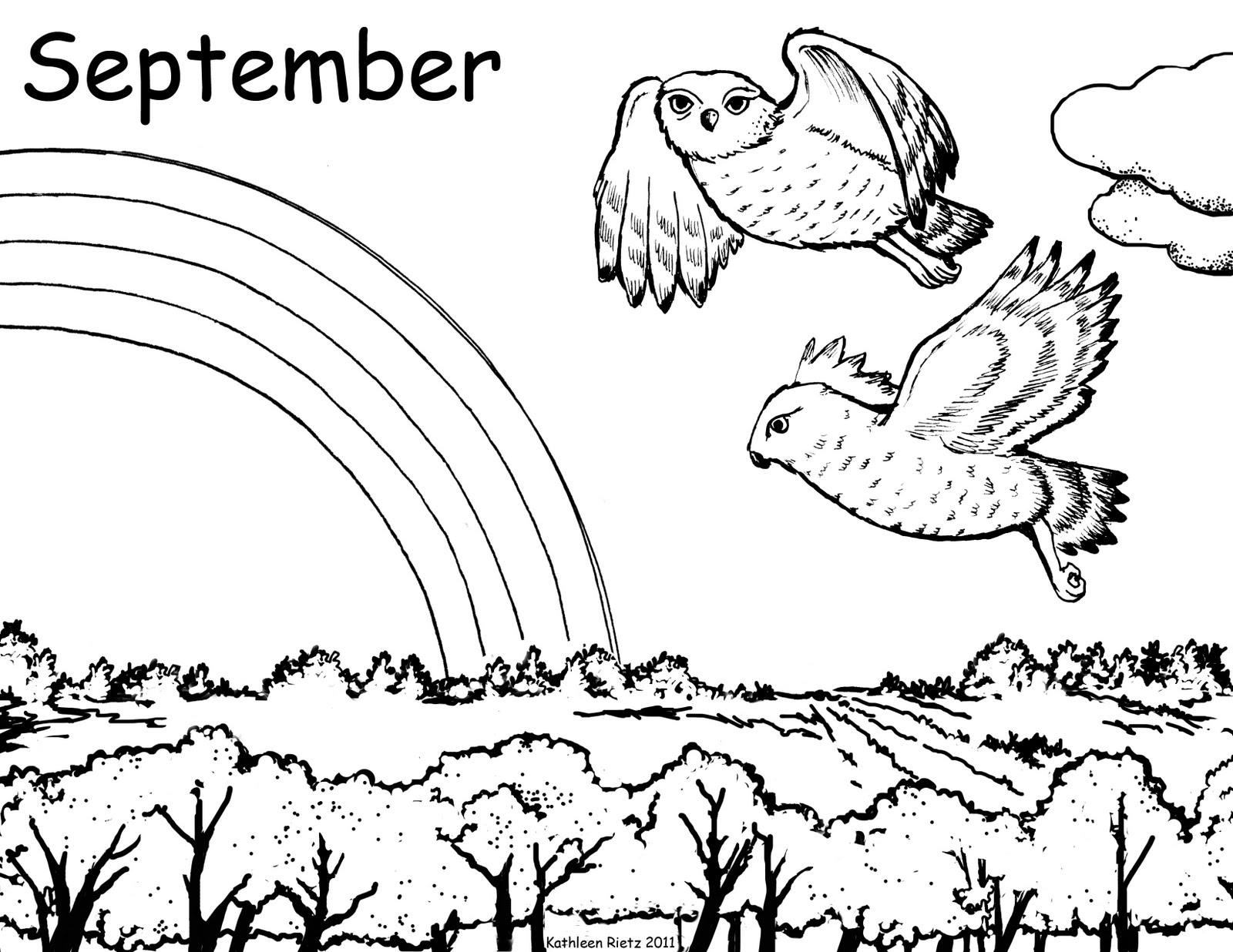 september printable coloring pages - photo#31