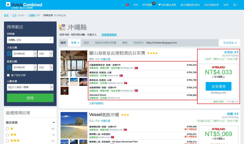 hotelscombined-住宿-訂房網站-比價平台-推薦-自由行-旅遊
