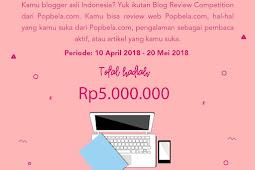 Lomba Popbela Blog Review Semua Umur Hadiah Jutaan Rupiah