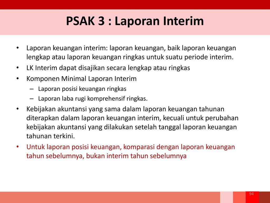 Materi Akuntansi Perusahaan Psak 3 Laporan Keuangan Interim