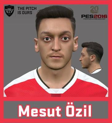 PES 2016 & PES 2017 Mesut Özil Face