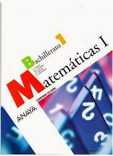 Libro Matemáticas I 1º Bachillerato Anaya
