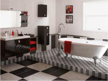 Fotos de ba os en blanco y negro colores en casa for Banos blancos decoracion