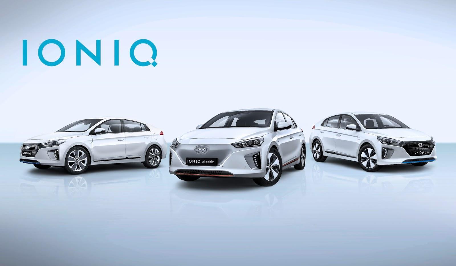 All New%2BIONIQ%2Bline up Η HYUNDAI παρουσιάζει το IONIQ, το πρώτο υβριδικό οχήμα με τρία εναλλακτικά συστήματα ηλεκτροκίνησης