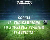 Logo Gioca gratis con Nilox e vinci coppie di biglietti per le partite della Juventus