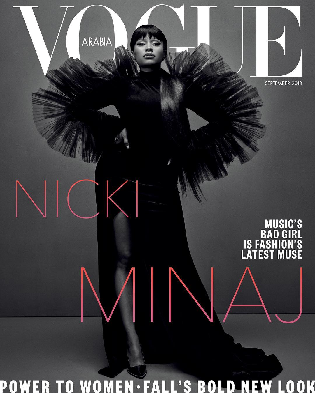 Nicki Minaj covers Vogue Arabia September 2018 issue