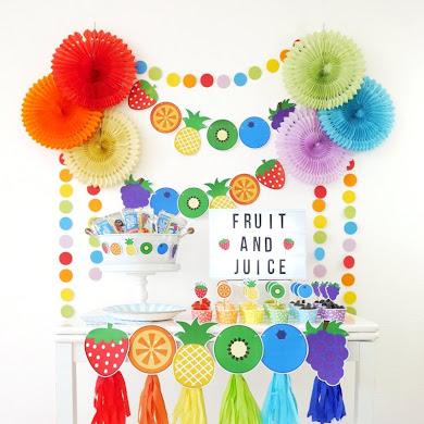 A Colorful Fruit & Juice Bar for Kids