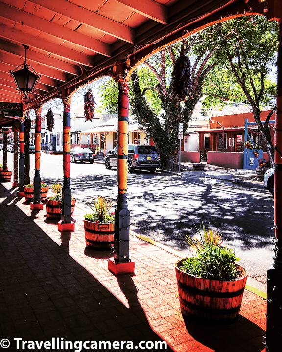 Old Town Plaza is center of Albuquerque Old Town. It was originally larger than how it looks today.