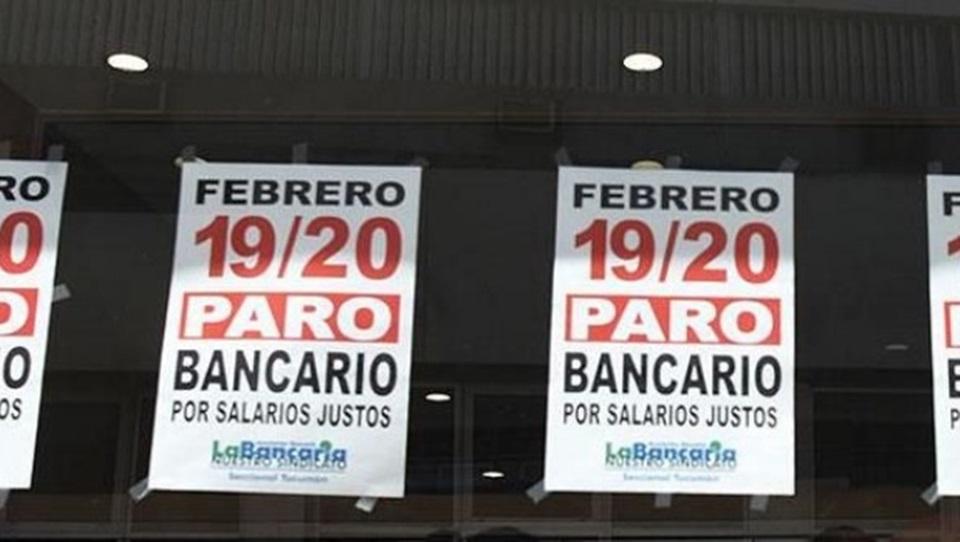 Sin bancos hasta el miercoles 21 por paro