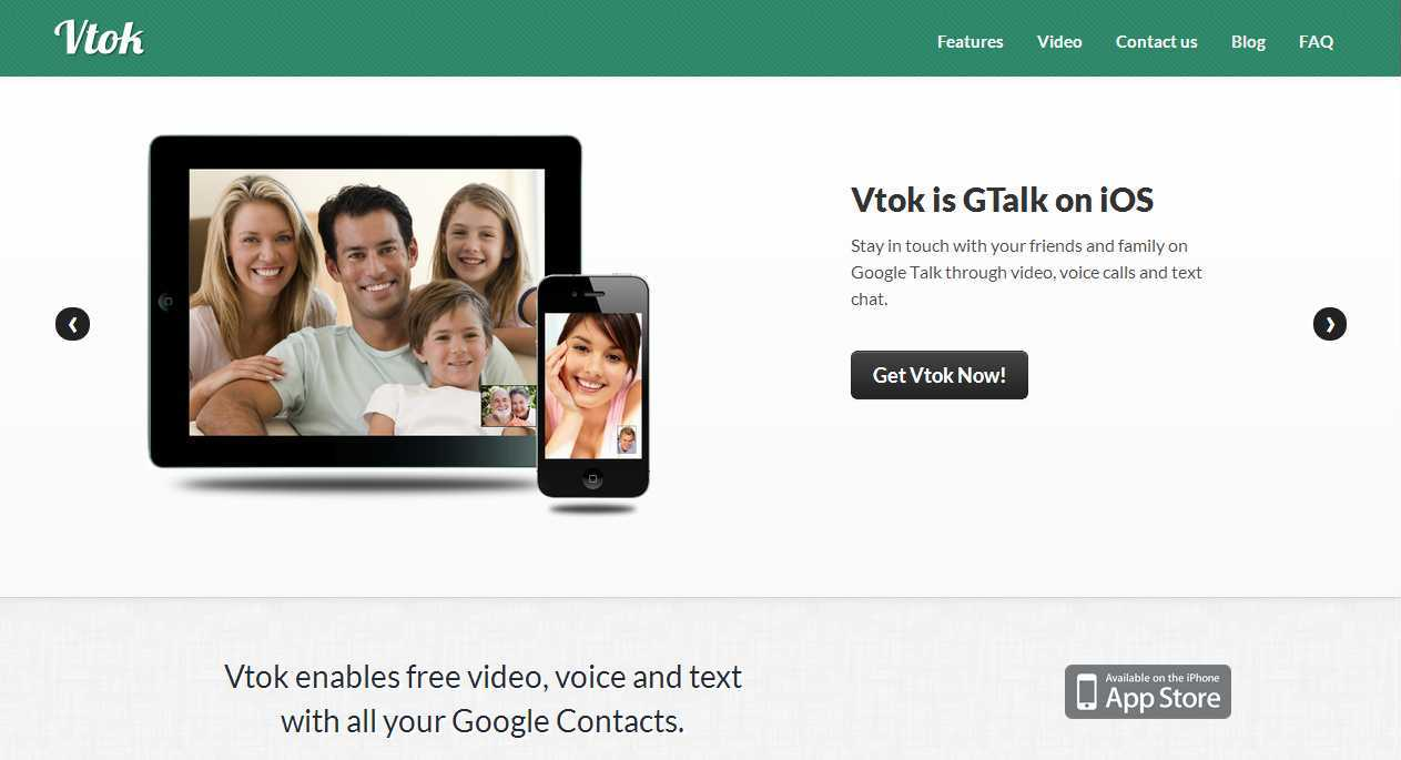 How to get GTalk over Apple iOS to make free video calls