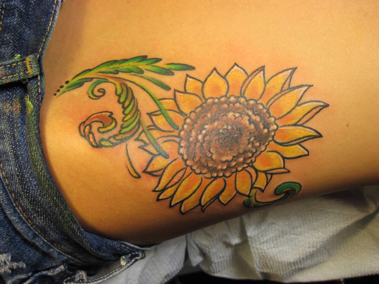 Sunflower Tattoo: Large Collection, Awesome