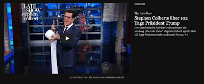 http://www.faz.net/aktuell/feuilleton/the-late-show-stephen-colberts-ueber-102-tage-praesident-trump-15000028.html