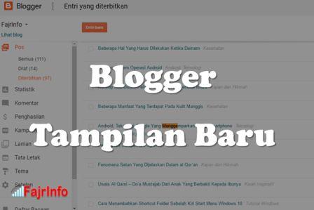 Beberapa Tampilan Tweak Baru Untuk Blogger