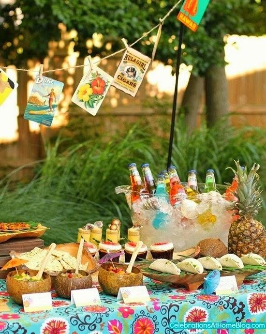 comidas fazer festa tropical