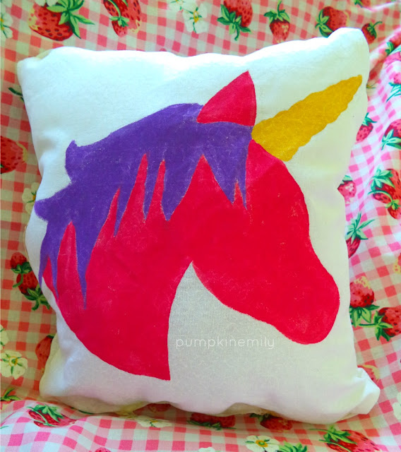 Unicorn Silhouette Pillow