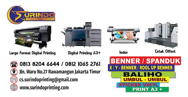 Tempat Jasa Percetakan Murah di Jakarta Timur - Surindo Printing