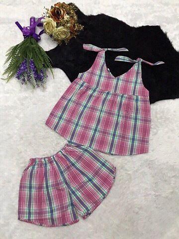 Đồ bộ short nữ mùa hè mặc nhà