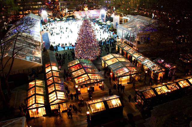The Holiday Shops no Bryant Park em Nova York