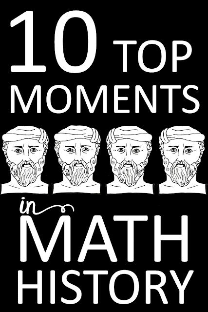 Want to bring a little math history into math class? These 10 top math moments get student imaginations churning about mathematicians and great math moments of the past. Bringing these stories into math class is sure to captivate student imaginations!