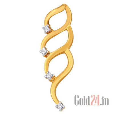 Asmi Gold Pendant with Diamonds