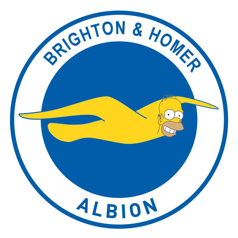 The Simpsons' version logo of Brighton