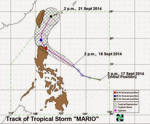 Track of Typhoon Mario