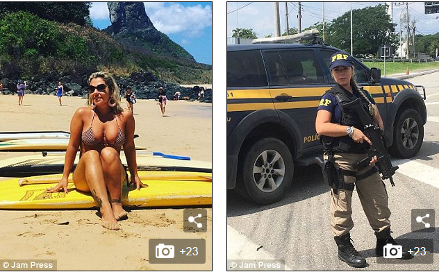 Photos; Meet The Hot And Sexy Policewoman Who Has Become An Online Sensation