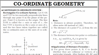 Coordinate geometry notes for SSC CGL 2018 PDF download