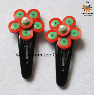kalanirmitee: paper quilling-quilled flowers-flowers-haiclips-hair accesories