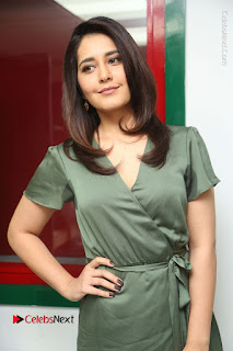 Actress Raashi Khanna Stills in Green Short Dress at Mirchi 95 Suno Aur Mercedes Jeeto Contest  0089.JPG