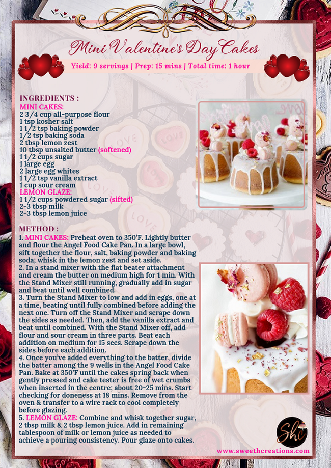 MINI VALENTINE'S DAY CAKES RECIPE