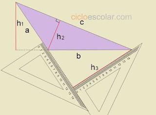 Ejemplo de como se obtiene altura de un triangulo escaleno h3