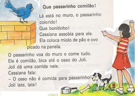 Leitura interpretação texto Que passarinho comilão