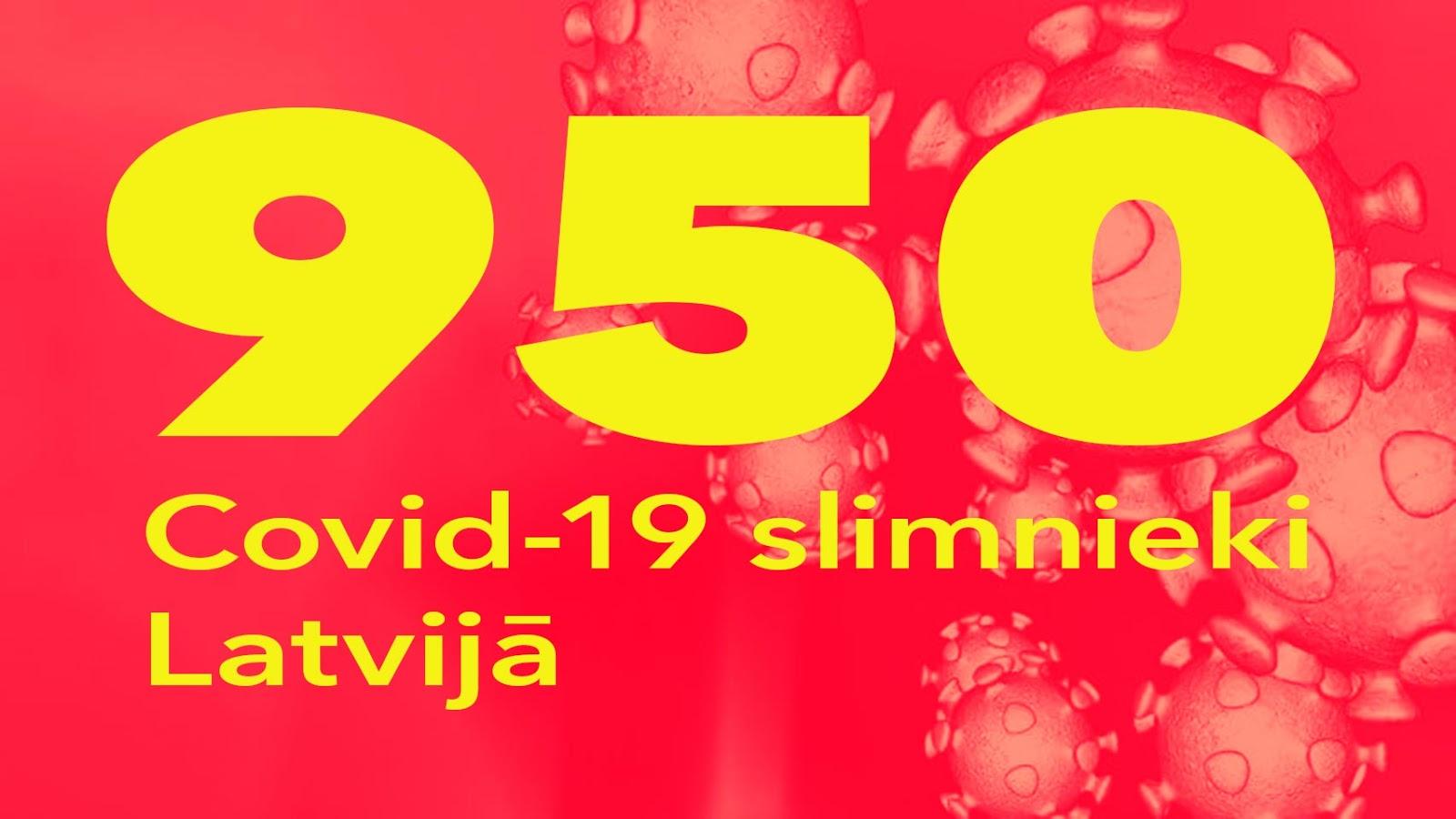 Koronavīrusa saslimušo skaits Latvijā 12.05.2020.