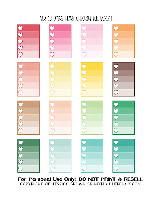 Free Printable Ombre Heart Checkoff Full Boxes 1 of 3 for the Vertical Carpe Diem Planner Inserts from myplannerenvy.com