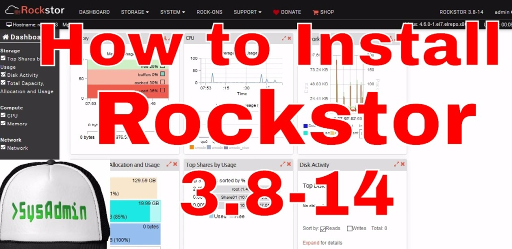 How to Install Rockstor 3 8-14 NAS and Review on VMware - SysAdmin