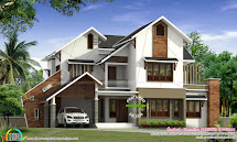 Modern House with Slanted Roof