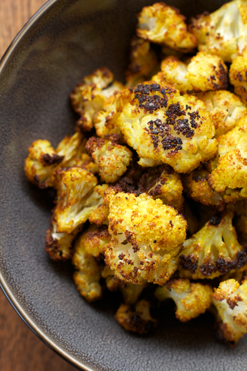 Curry Roasted Cauliflower || A Less Processed Life