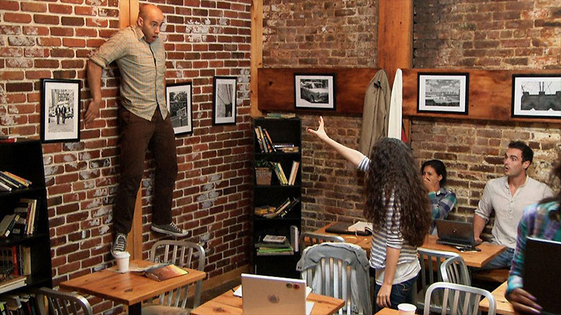 Promotion for Carrie remake scares West Village Coffee Shop