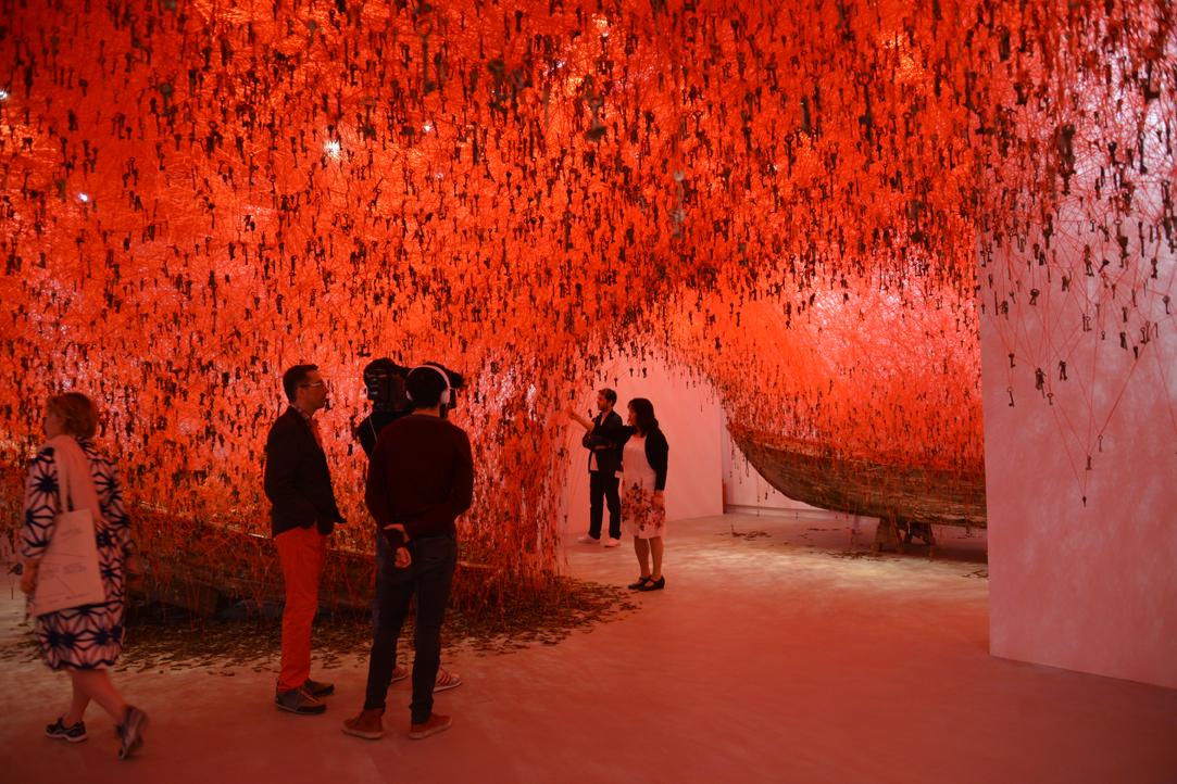 Padiglione Giappone Chiharu Shiota The Key in the Hand La Biennale di Venezia 2015 Giardini photo Valentina Grandini 1