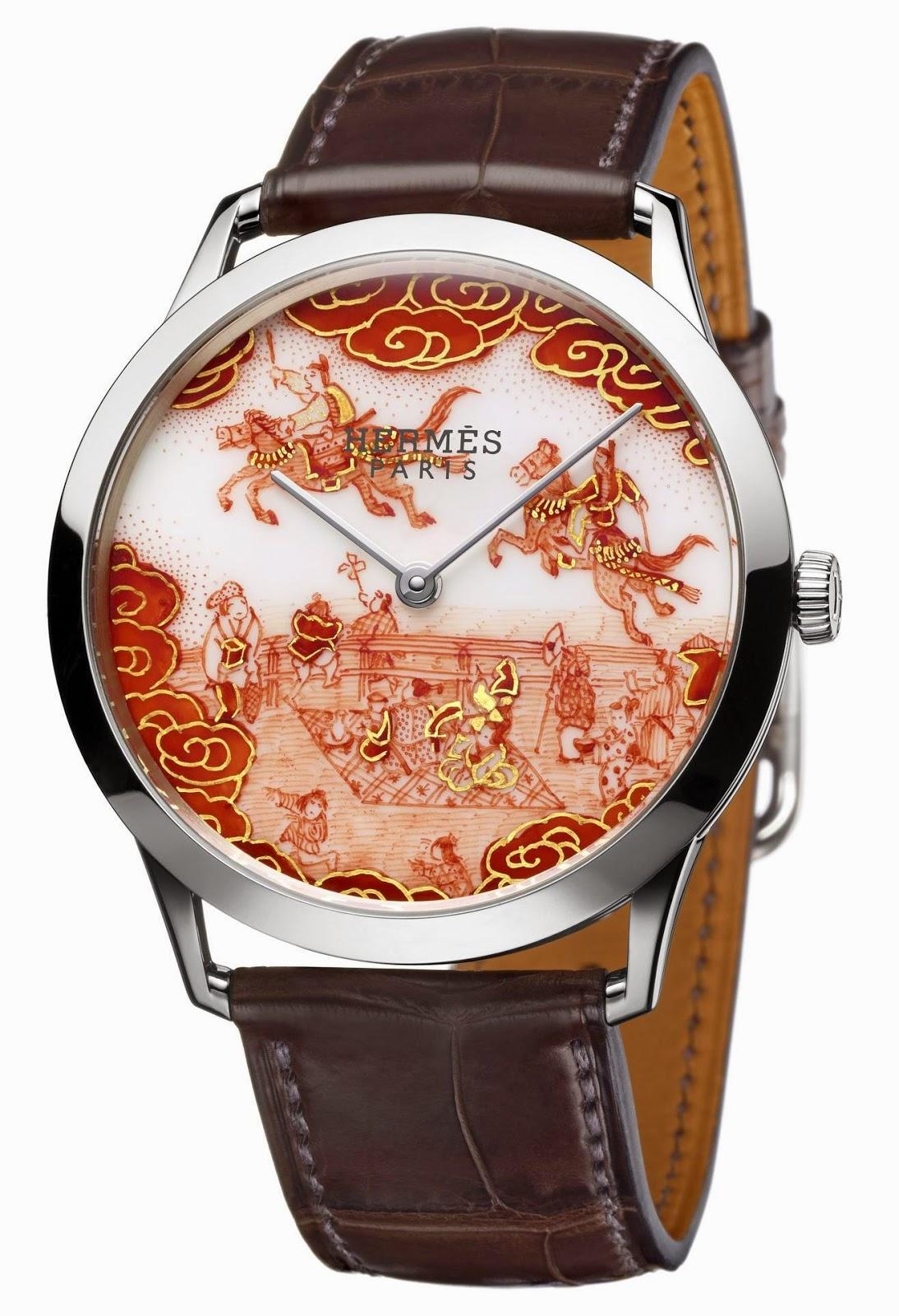 Hermès Slim d'Hermès Koma Kurabe watch