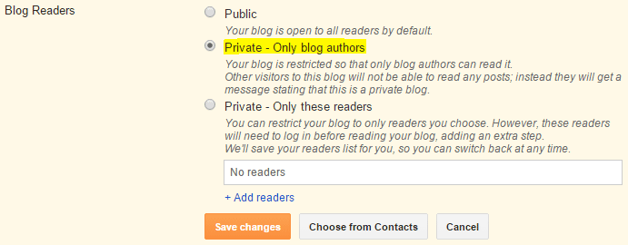 How to Make Blogger Site Private