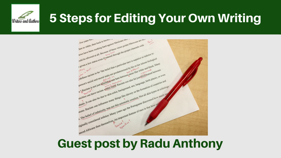 5 Steps for Editing Your Own Writing #Editing