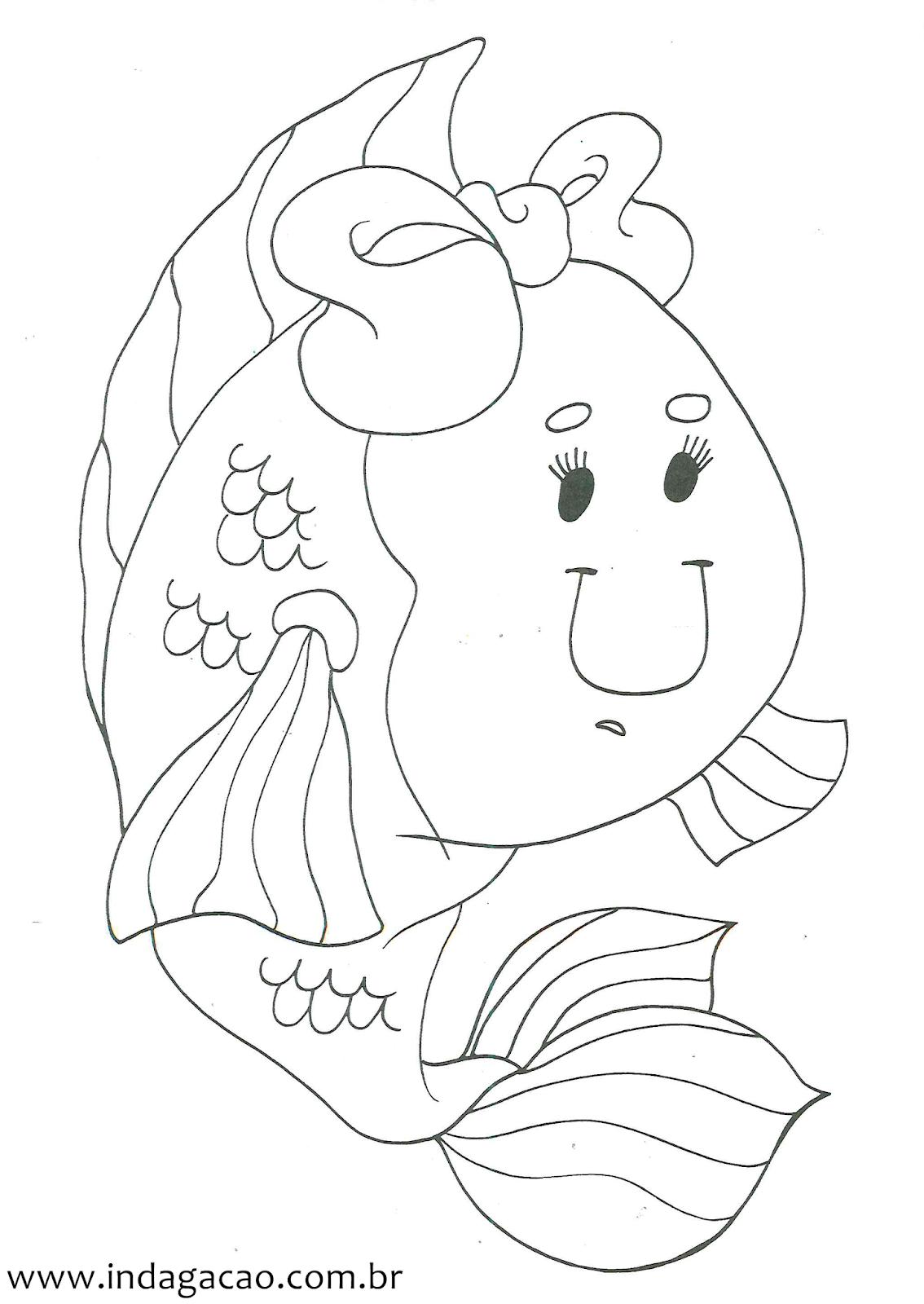 Desenho De Peixe Para Colorir Indagacao