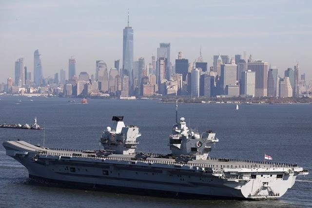 Queen Elizabeth arrives New York