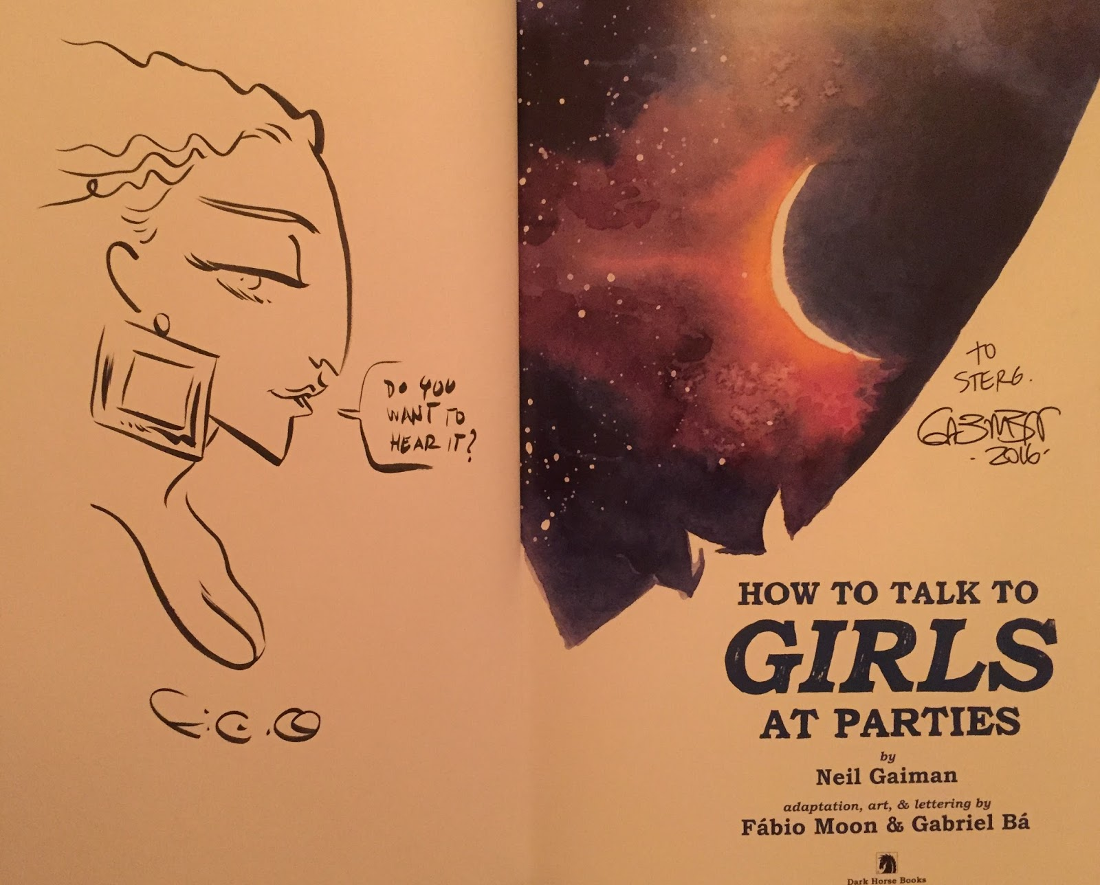 They Also Signed And Doodled In My Copy Of This Book Thank You To A Couple  Of Warm, Excellent, And Funny Creators!