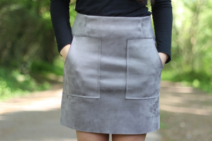 Faux Suede grey skirt Primark