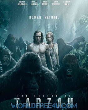 Poster Of The Legend of Tarzan 2016 Full Movie In Hindi Dubbed Download HD 100MB English Movie For Mobiles 3gp Mp4 HEVC Watch Online